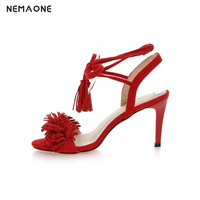 New 2016 Shoes Women Sandals Lace Up Sexy Ankle Strap Gladiator Tie String Casual High Heel