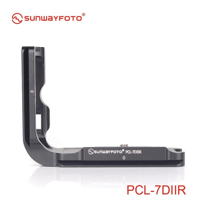 все цены на SUNWAYFOTO PCL-7DIIR Tripod Head Quick Release Plate For  7D MK II Head L-bracket Specific Aluminum Quick Release Plate онлайн