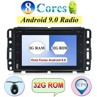 32G 7 Octa Core 2Din Android 9.0 For Chevrolet Traverse Tahoe Suburban GMC FM GPS Navigation Wifi DAB OBD Map Multimedia Player
