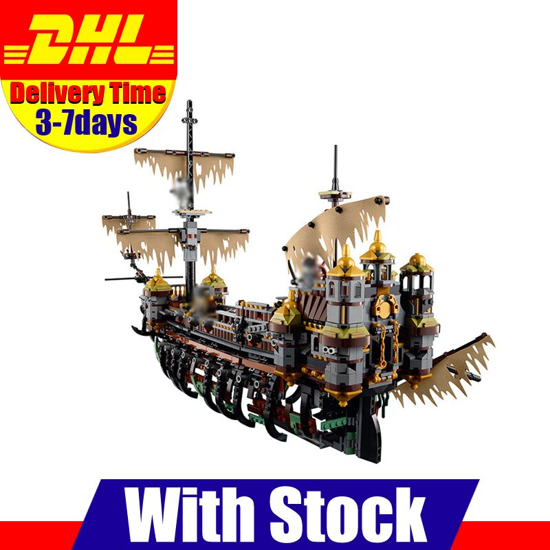 LEPIN 16042 2344PCS Pirate of The CaribbeanThe Slient Mary Set Children Educational Building Blocks Bricks Toys Model Gift 71042 new lepin 16042 pirate ship series building blocks the slient mary set children educational bricks toys model gift with 71042