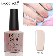 Nieuwe Mode IBCCCNDC Nail Gel Polish Salon Nail Art Varnish Soak Off LED UV Lamp Curing Gel Lak 79 Kleur helder Roze 40523(China)