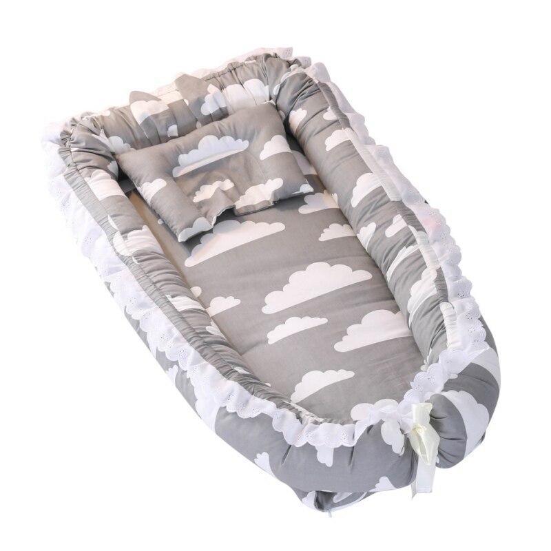 Детская люлька для кровати портативный детский шезлонг для новорожденных кроватки дышащий и Сон Гнездо путешествия детские поставки