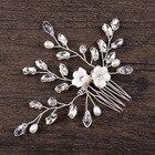 Crystal Flower Hair Comb Wedding Bridal Hair Accessories