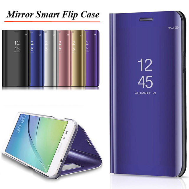 US $2 41 10% OFF|Mirror Smart Case For Huawei Honor 8X 8 9 Lite 10 V10 Play  Y5 Y6 Y7 Y9 2018 P20 Pro Mate 20 Lite P10 P9 P Smart Nova 3 3i Cover-in