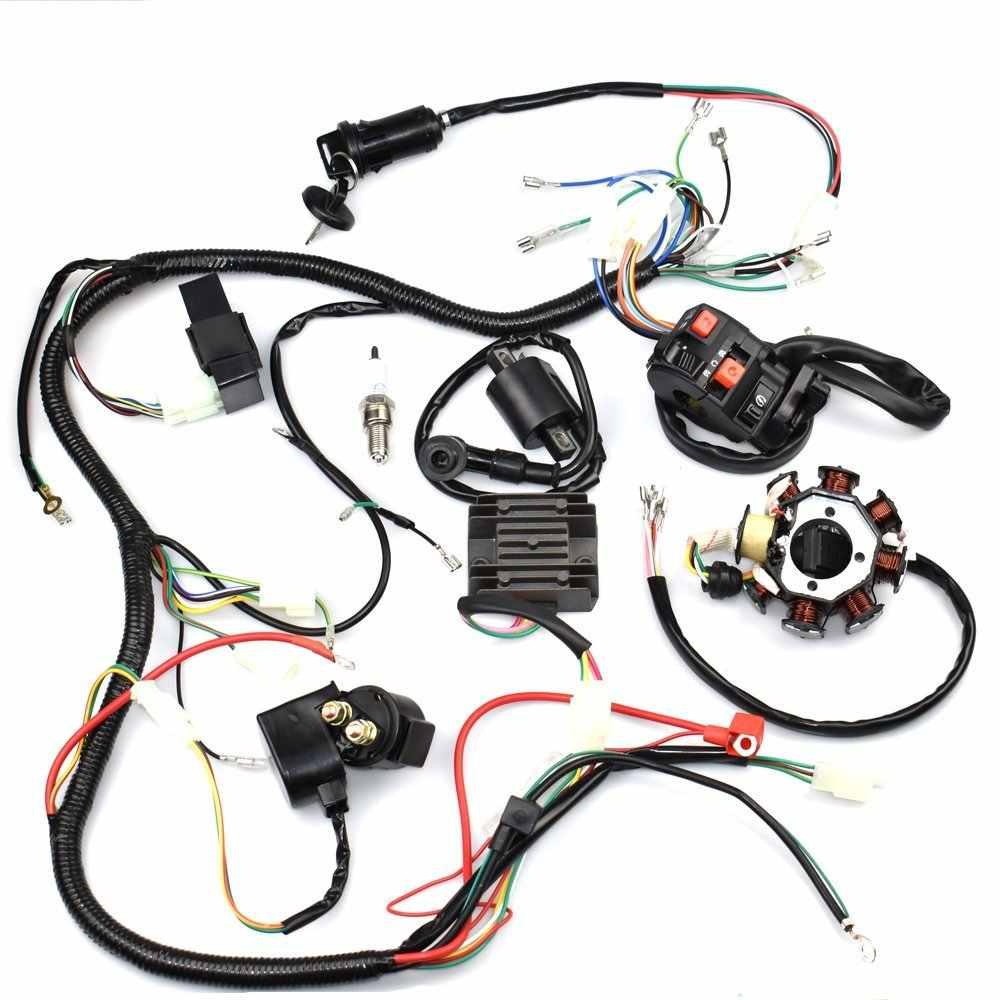 MYMotor Complete Wiring Harness kit Wire loom Electrics Stator Coil CDI For  ATV QUAD 4 Four wheelers 150CC 200CC 250CC Go Kart D|cdi coil|cdi 150cccdi  200cc - AliExpressAliExpress