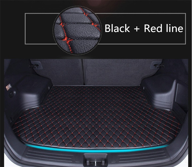 Auto Cargo Liner Trunk Mats For <font><b>Audi</b></font> <font><b>A5</b></font> S5 <font><b>Sportback</b></font> 2012 2013 <font><b>2014</b></font> 2015 20162017 Boot Mat High Quality New Embroidery Leather image