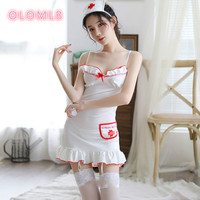 Nurse Erotic Costume Maid Uniform Cosplay Lingerie Women Role Play Lingerie Hot Sexy Dress +g string +hat +hairband+ Stockings