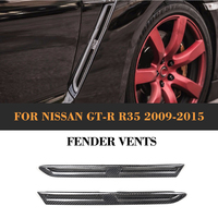 side fender vents air intake decorative stickers for Nissan GTR R35 Coupe 2009 2015