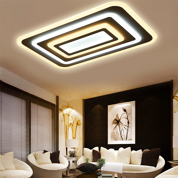 купить LED Modern Ceiling Lights Ceiling Lamp Remote Control Dimmable Acrylic Decorative For Living Room Bedroom 9032 по цене 8329.69 рублей
