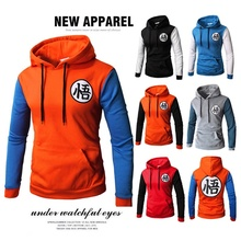 ZOGAA 2018 new 6 color New men's Wukong printed dragon ball Z hoodies dbz casual baseball pullover goku jacket S-3XL