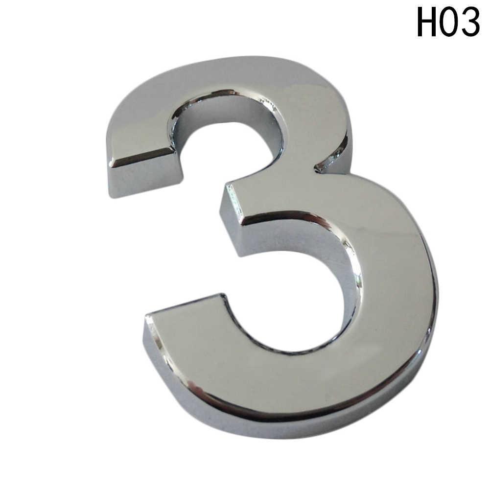5 cm Pintu Rumah Alamat Nomor Digit Angka Piring Plak Masuk Kamar Gerbang Lencana Stiker Dengan Self-adhesive Sticker