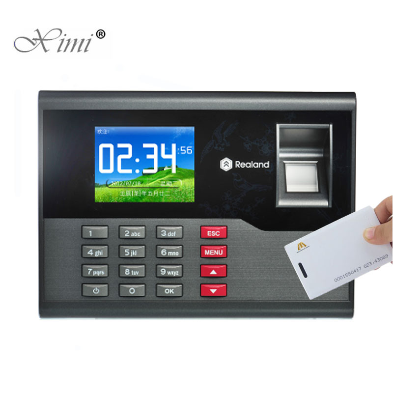 Biometric Fingerprint Time Attendance With RFID Card Reader High Speed TCP/IP USB Communication Time Control Device A-C121Biometric Fingerprint Time Attendance With RFID Card Reader High Speed TCP/IP USB Communication Time Control Device A-C121