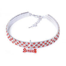 Cute, hot bling rhinestone Yorkie collar / 4 Colors