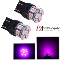 PA LED 10PCS x Best Sell Pink Color T20 7443 Car Turning Light 12V Wholesale W21W 13SMD 5050 LED Lamp