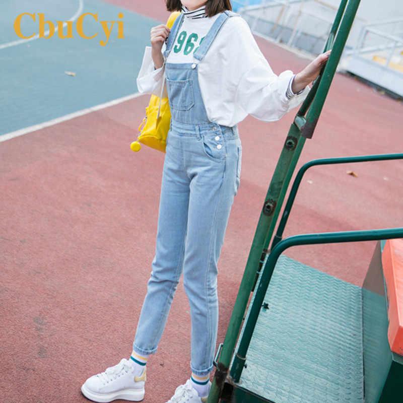 Модный женский джинсовый комбинезон большой Размеры Повседневное комбинезоны для девочек женские боди комбинезон женский джинсы комбинезоны светло-голубой