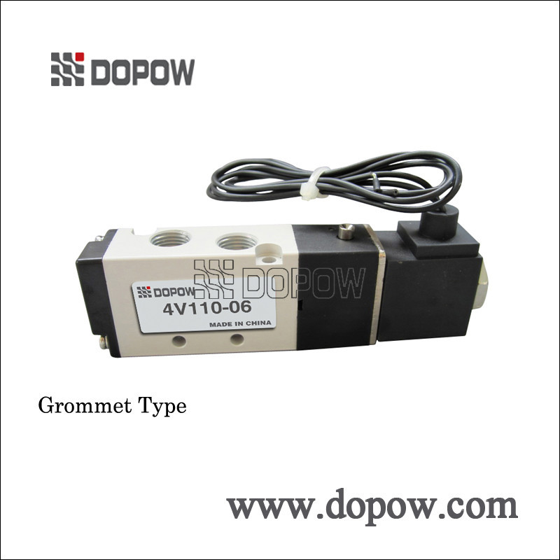 """1 шт. 4v110-06 воздуха airtac воздуха электромагнитные span 1/8 """" 5 разъём 2 позиция 12 В 24 в Сид ac110v 220 в пневматический электромагнитный клапан"""