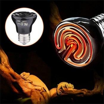 110V Pet Heating lamp Black Infrared Ceramic Emitter Heat Light Bulb Pet Brooder Chickens Reptile lighting Lamp 25W 50W 75W 100W
