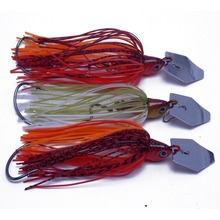 3PCS Special bladed swim fishing jigs bait 0.5oz with free-flowing rubber Lures skirt цена