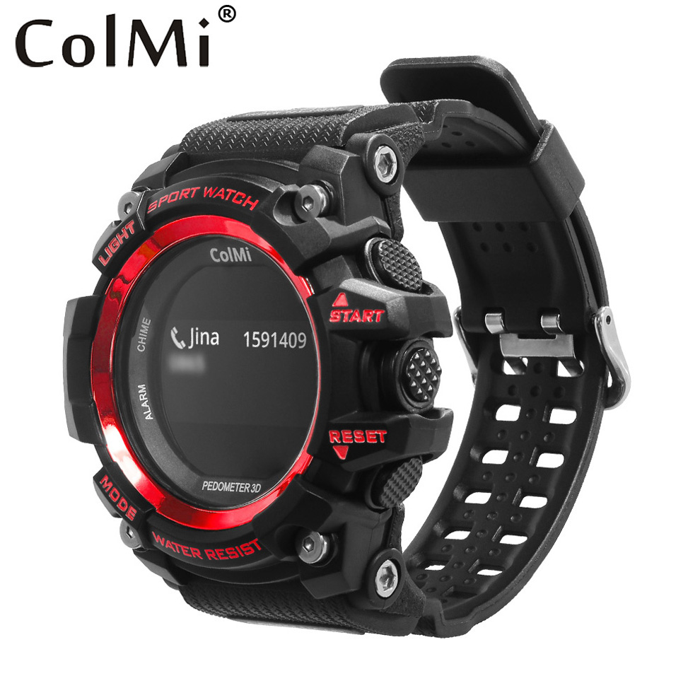 ColMi Smart Sport Watch T1 OLED Display Heart Rate Monitor IP68 Waterproof Push Message Call Reminder for Android IOS Phone bluetooth smart watch va01 1 22 inch ips hd display support heart rate monitoring message push for ios android phones