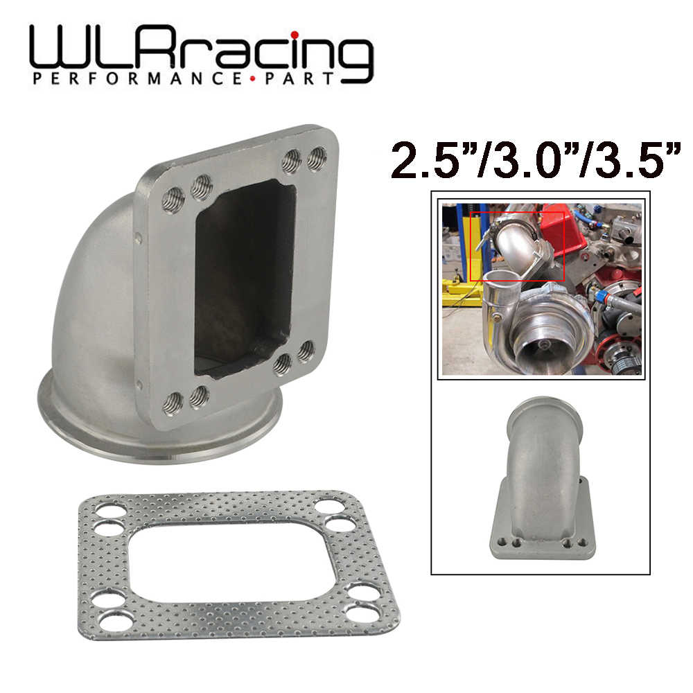 "WLR - 2.5"" 3.0"" 3.5"" Vband 90 Degree Cast Turbo Elbow Adapter Flange 304 Stainless Steel For T3 T4 Turbocharger"