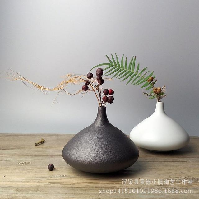 American Country Style Vase Ceramic Handicrafts Japanese Flower Vase