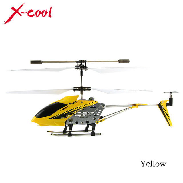 M3 3.5 Channel Mini Indoor Co-Axial Metal RC Helicopter w/ Built in Gyroscope cardboard box