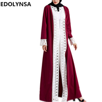 Brand Fashion Muslim Dress Dubai Abaya Muslim Dress Solid Plus Size Robe Knitting Dubai Abaya Dresses