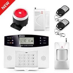 2020 New Arrival 2G Alarm domowy GSM bezprzewodowy System bezpieczeństwa Auto Dial Alarm antywłamaniowy wyświetlacz LCD klawiatury rosyjski komunikat głosowy