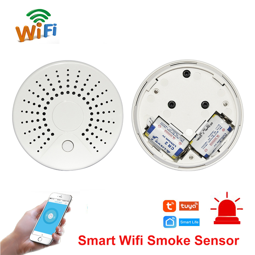 Smart Wifi Fire Smoke Temperature Sensor Wireless Smoke Temperature Detector Automation Home Security Alarm System Smart life(China)