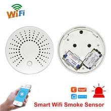 Smart Wifi Fire Smoke Temperature Sensor Wireless Smoke Temperature Detector Automation Home Security Alarm System Smart life