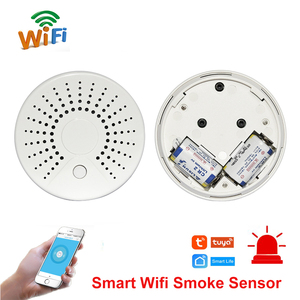 Image 1 - Smart Wifi Fire Smoke Temperature Sensor Wireless Smoke Temperature Detector Automation Home Security Alarm System Smart life