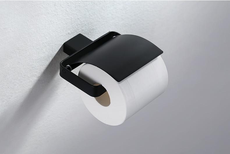 Toilet Accessoires Zwart : Hoge kwaliteit badkamer wc rvs zwart papier rolhouder badkamer