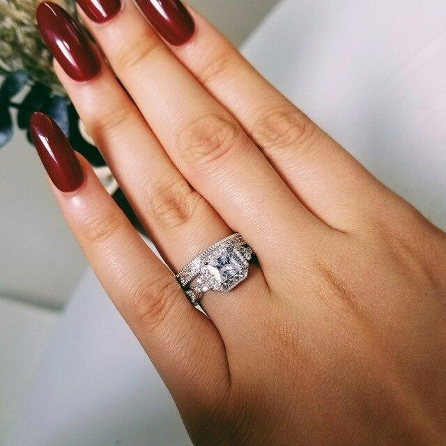 2018 New Arrivals Bold Real 925 Sterling Silver Ring Set Finger For