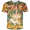 Fuente unicornio Camiseta EUR Estilo Vintage Religión camisetas camisetas hombres Mujeres Hipster 3D camiseta Harajuku Camiseta Botín camiseta