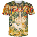 Unicorn Fountain T-Shirt EUR Vintage Religion Style t shirts tees Men Women Hipster 3D t shirt Harajuku Tee Shirt Swag t-shirt