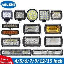 ASLENT 4 5 7 9 12 15 22 inch 18/72/120/360W Offroad LED Bar Car Lamp Work Light Fog Spot for AUTO 4x4 UAZ ATV Truck SUV 12V 24V