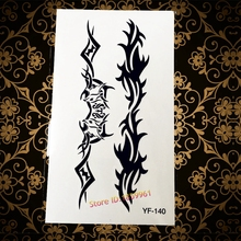 Hot Sexy Product Black Flash Tattoo Cool Men Women Body Decals YF140 Phoenix Fox Eagle Totem Waterproof Temporary Tattoo Sticker