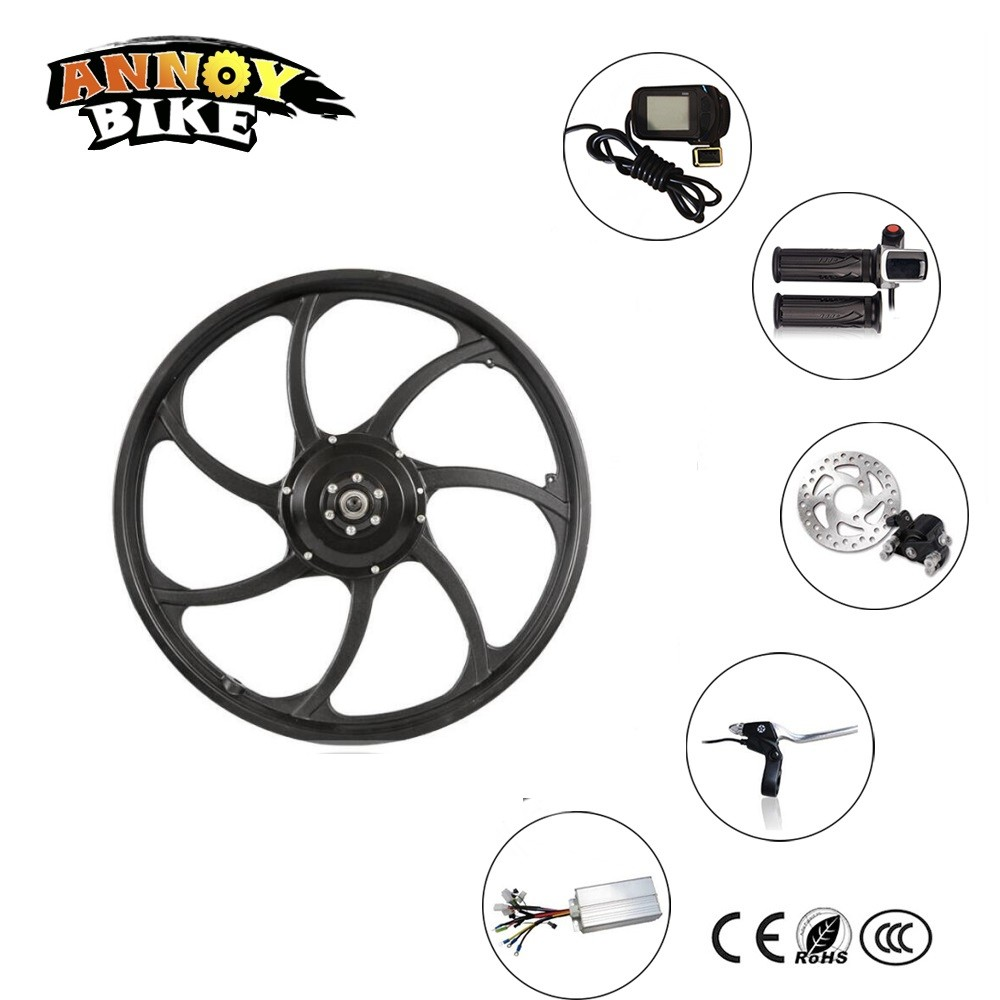 Magnesium Alloy 20 Rear Drive Electric Hub Motor With LCD throttle For E Scooter Bike DIY E Scooter Kit Folding Bike Kit 1pc 70mm 83mm 90mm electric skateboard hub motor with black or red pu cover for single drive or dual drive electrical longboard