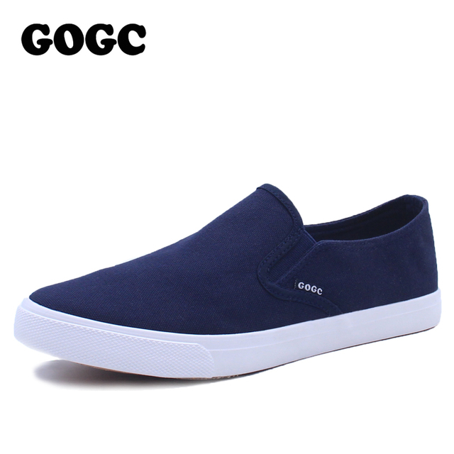 GOGC 2017 New Arrive Style Men Casual Shoes Loafers High Quality Men Shoes  Canvas Male Footwear Comfortable Flat Shoes for Men