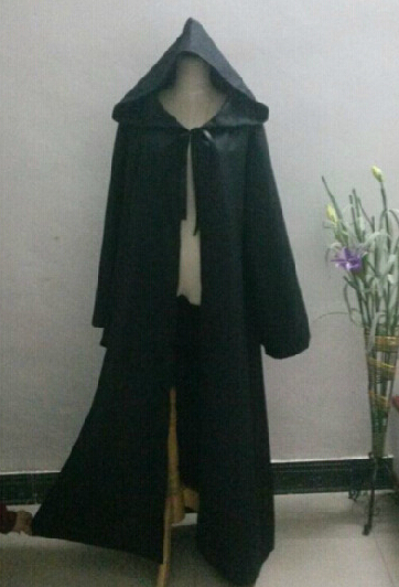 Star Wars Darth Vader Cosplay Jedi Black Robe Cloak Cape Halloween Men Darth Vader Costume