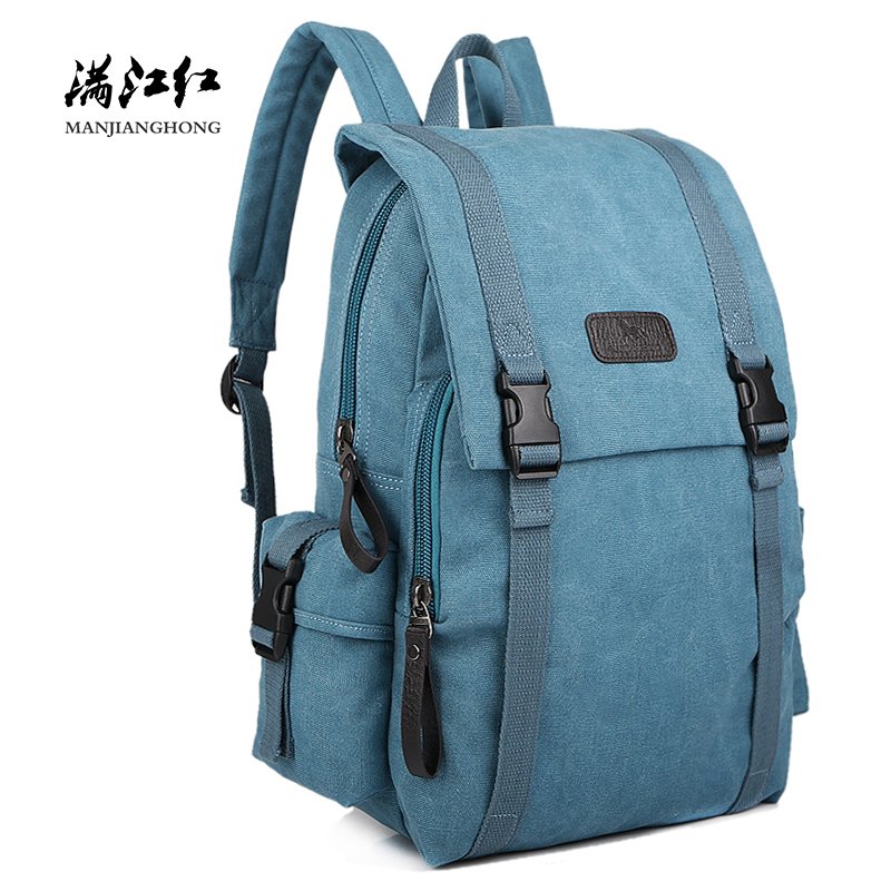 Large Capacity Men Travel Backpack Canvas School Bag Vintage Retro Women Laptop Backpack Bag 14 Inch Casual Travel Rucksack 1108 стоимость