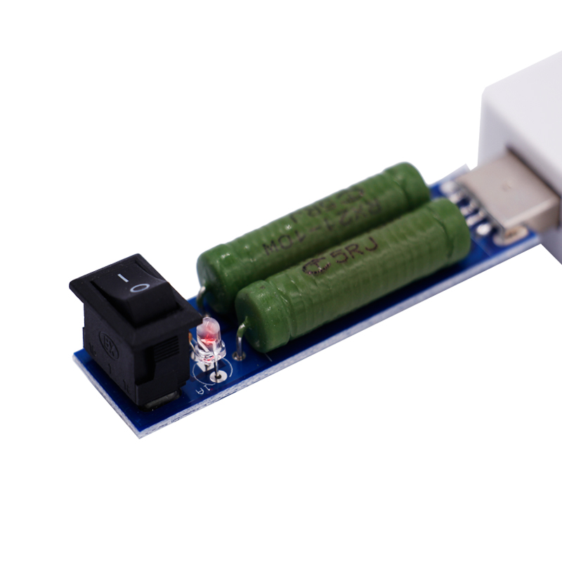 USB Port Mini Discharge Load Resistance Power Resistors Tester  Mobile Power Aging Resistors Module 1A /2A With Switch