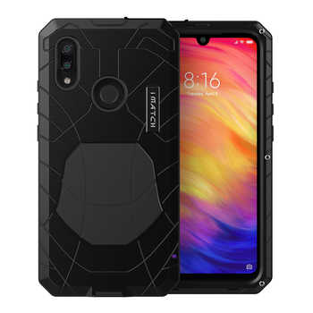 For Xiaomi Mi Redmi Note 7 Phone Case Hard Aluminum Metal Tempered Glass Screen Protector Heavy Duty Cover  for Redmi Note 7 Pro - DISCOUNT ITEM  36% OFF All Category