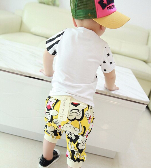 Summer Children Boy Clothes Set Sleeveless