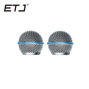Image 4 - Freeshipping 6pcs/lot Professional Replacement Ball Head Mesh Microphone Grille Fits For shure sm 58 sm 58sk beta 58 beta58a