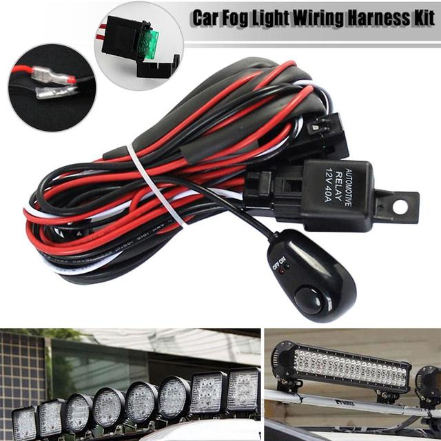 12v 40a car fog light led light strip switch wiring harness kit on Fog Light Wiring without Relay 12v 40a car fog light led light strip switch wiring harness kit on off switch