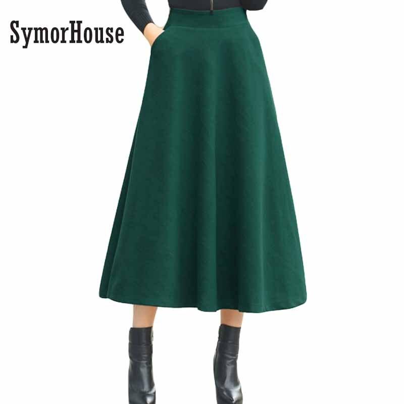 new winter skirt autumn fashion s woolen skirts