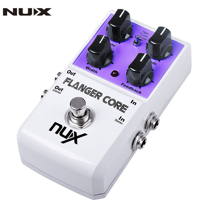 nux flanger core guitar effects pedal normal tape flanger true bypass guitar parts accessories. Black Bedroom Furniture Sets. Home Design Ideas