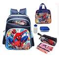 1 Unidades 16 pulgadas spiderman niños bolso de escuela para niñas mochila escolar mochila conjunto coreano nuevo morral de la escuela de alta calidad