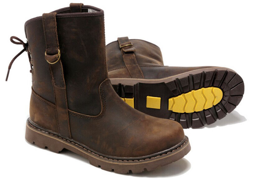 ca037764ad2 real leather women / men tooling motorcycle hiking walking boots ...